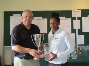 Ebonie with trophy