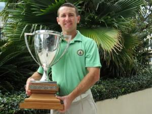 Fraser Hunt with Trophy